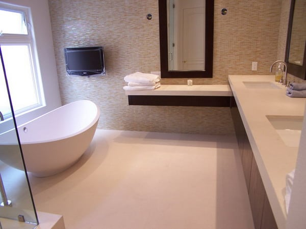 Modern Apartment Bathroom - Tubs Taps and Tiling Watford